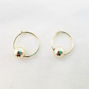 Baublebar 18K Gold Vermeil Hoop Earrings